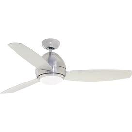 Donovan Indoor/Outdoor Ceiling Fan in Brushed Steel
