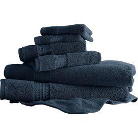 6-Piece Egyptian Cotton Towel Set in Denim