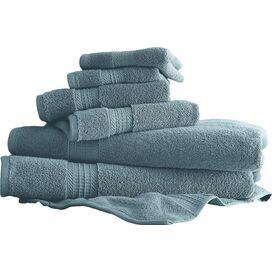 6-Piece Egyptian Cotton Towel Set in Light Blue