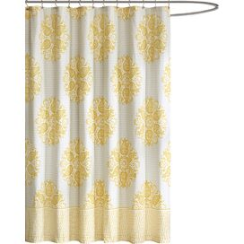 Melbourne Shower Curtain in Yellow