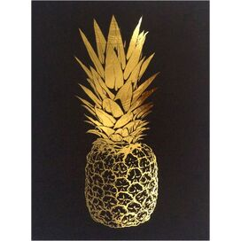 Gold Pineapple Top Print