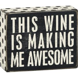 Wine Awesome Block Decor
