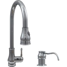 Single Handle Pull-Out Kitchen Faucet in Polished Chrome