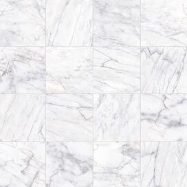 High-Gloss Porcelain Tile in White (Set of 22)