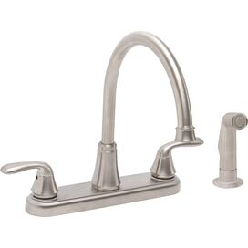 Centerset Kitchen Faucet in Brushed Nickel