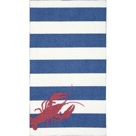 Nathan Rug in Navy & Red