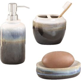 3-Piece Balboa Bath Accessories Set in Multi