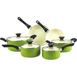 10-Piece Nonstick Cookware Set in Green