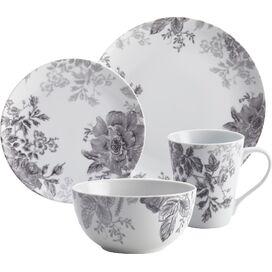 BonJour 16-Piece Porcelain Garden Dinnerware Set