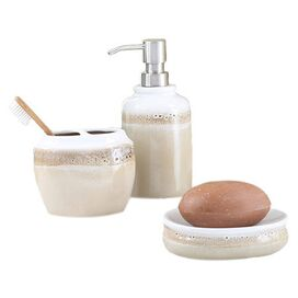 3-Piece Balboa Bath Accessories Set in Khaki