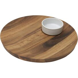 Ellen Acacia Chip & Dip Tray Set