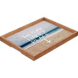 Happy Place X Beach Bamboo Tray
