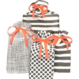 Bag-all, Gift Bags Grey Reusable 4-Pack