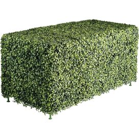 Faux Boxwood Rectangular Hedge
