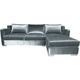 Parker Velvet Sectional Sofa