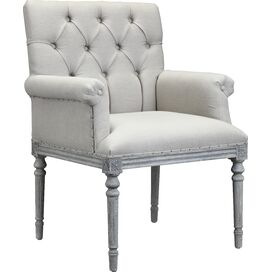 Keegan Tufted Arm Chair in Light Beige