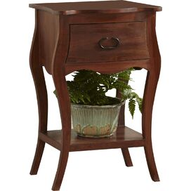 Leena Nightstand in Mahogany