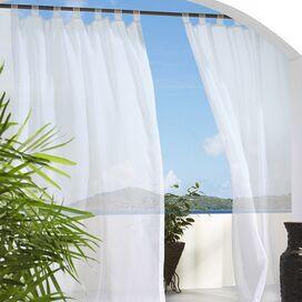 White Sheer Rod Pocket Curtain Panel