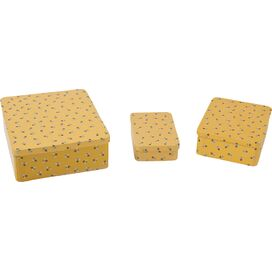 3-Piece Honeybee Tin Set in Yellow
