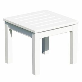 Sandy Patio Side Table in White Enamel