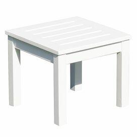 Sandy Patio Side Table in White Enamel