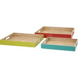 3-Piece Jamie Bamboo Tray Set