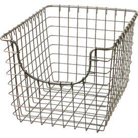 Wire Storage Basket in Satin Nickel
