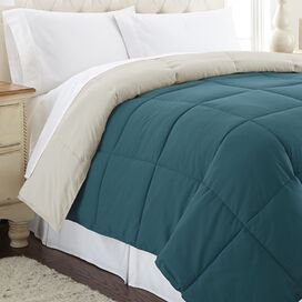 Sawyer Reversible Comforter in Blue Coral & Oatmeal