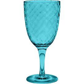 Azura Acrylic Wine Goblet in Aqua (Set of 6)