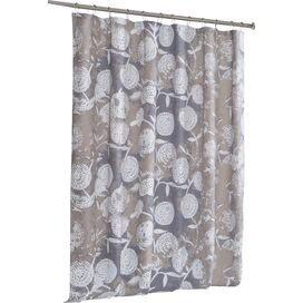 Dorothea Shower Curtain in Linen & White