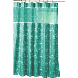 Ella Shower Curtain in Hazy Aqua