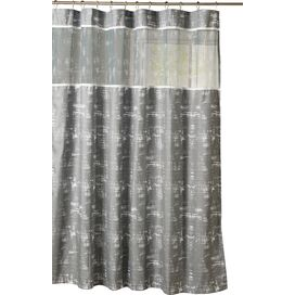Ella Shower Curtain in Silver