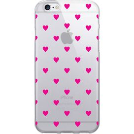 Dotty Hearts iPhone 6 Case in Magenta