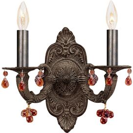 Nina Wall Sconce in Amber & Venetian Bronze