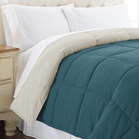 Reversible Down Alternative Comforter in Blue