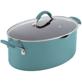 Rachael Ray 8-Quart Covered Pasta Pot in Agave Blue