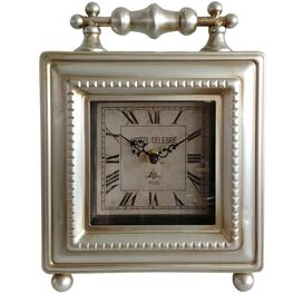Frame Table Clock in Silver
