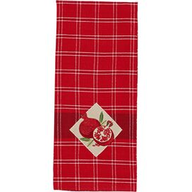 Pomegranate Embroidered Dishtowel (Set of 2)