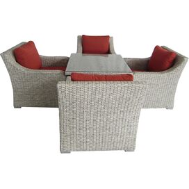 5-Piece Desert Sand Wicker Seating Group
