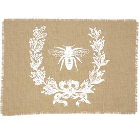 Bee Crest Burlap Placemat