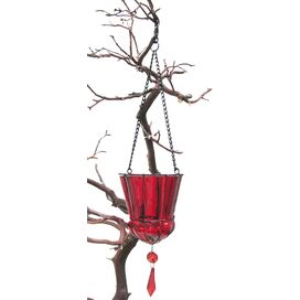 Tiffany Hanging Votive Holders in Red (Set of 6)