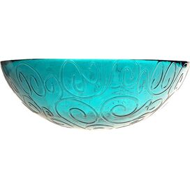 Mediterranean Serving Bowl in Capri Teal