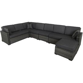 6-Piece Avery Patio Seating Group in Gray