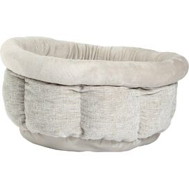 Cuddle Cup Pet Bed in Silver
