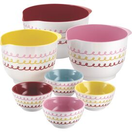 7-Piece Melamine Mixing and Prepping Bowl Set