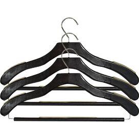 Anti-Slip Wood Suit Hanger (Set of 24)