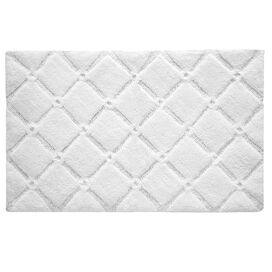 Trellis Bath Rug in White