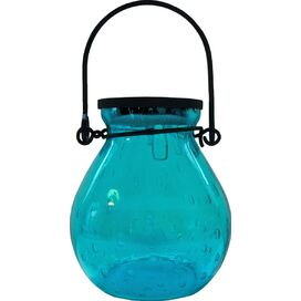 Bubble Solar Hanging Lantern in Turquoise