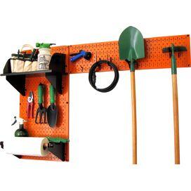 Pegboard Garden Tool Organizer Kit in Orange & Black