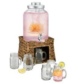 7-Piece Lauren 3-Gallon Beverage Dispenser Set